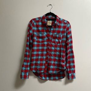 Hollister Cotton Plaid Shirt